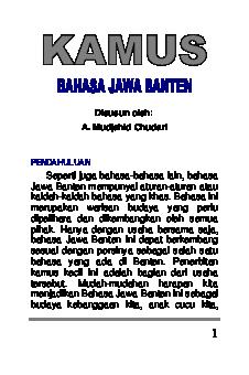 Kamus Bahasa Jawa Pdf