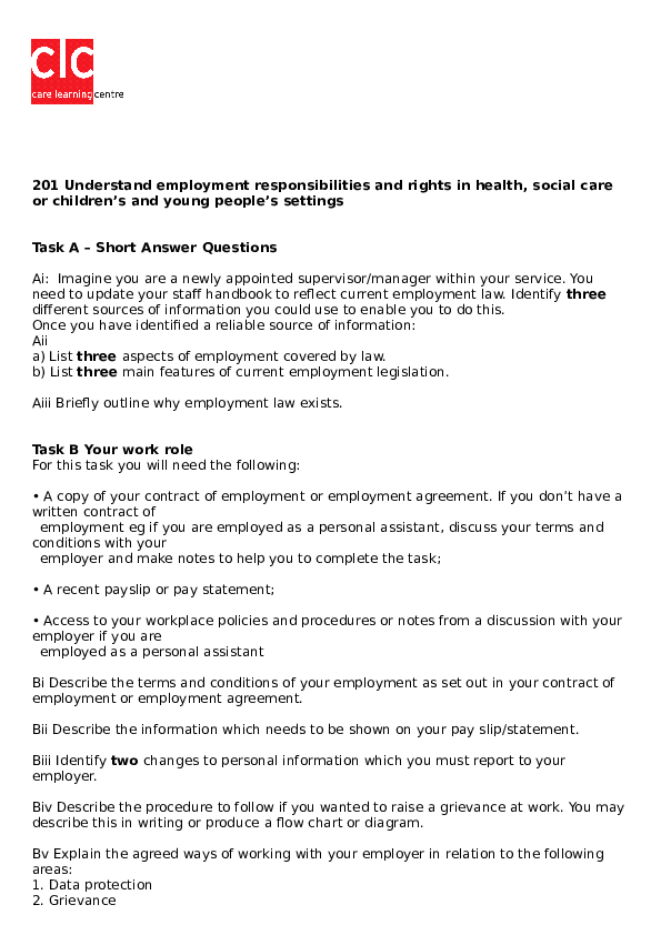 employment law basics