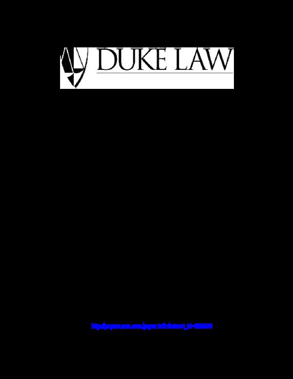 PDF) DUKE LAW SCHOOL Duke Law School Public Law and Legal