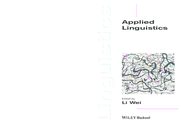 PDF) (Introducing Linguistics) Li Wei (ed ) Applied