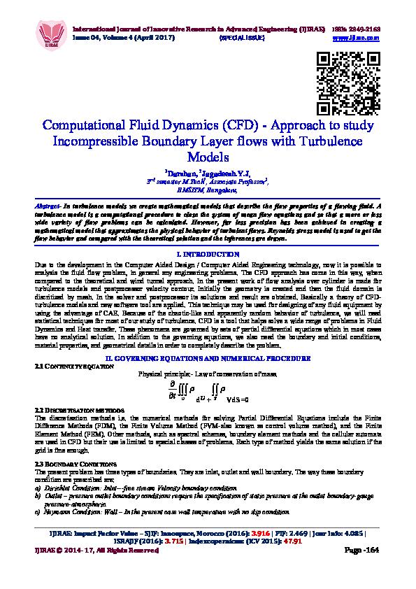 PDF) Computational Fluid Dynamics (CFD) -Approach to study