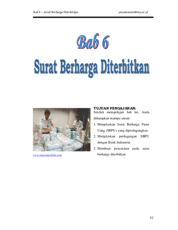 Pdf Bab 6 Surat Berharga Diterbitkan Farkhan Nugroho