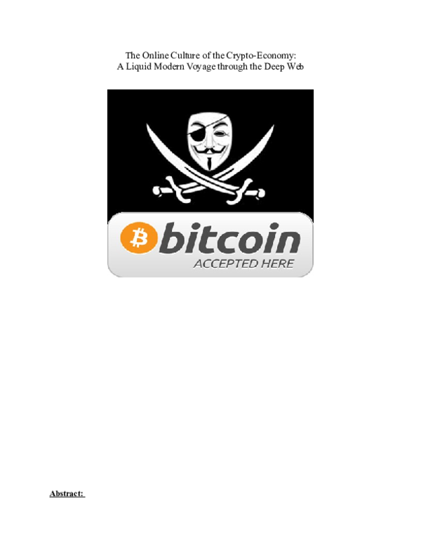 8f3cf0e1c8d0 DOC) The Online Culture of the Cryptoeconomy.docx