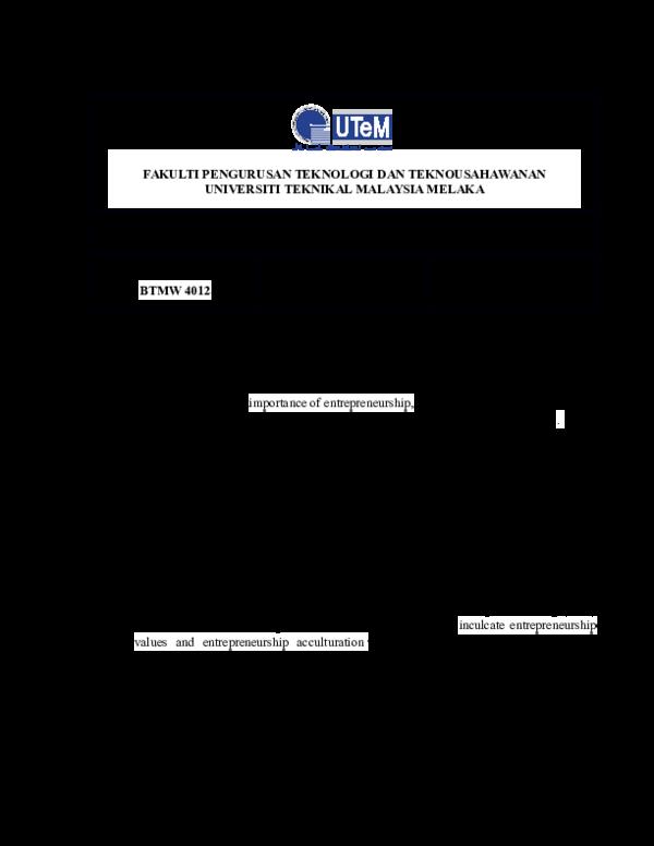 Technopreneurship business plan pdf purpose statement resume