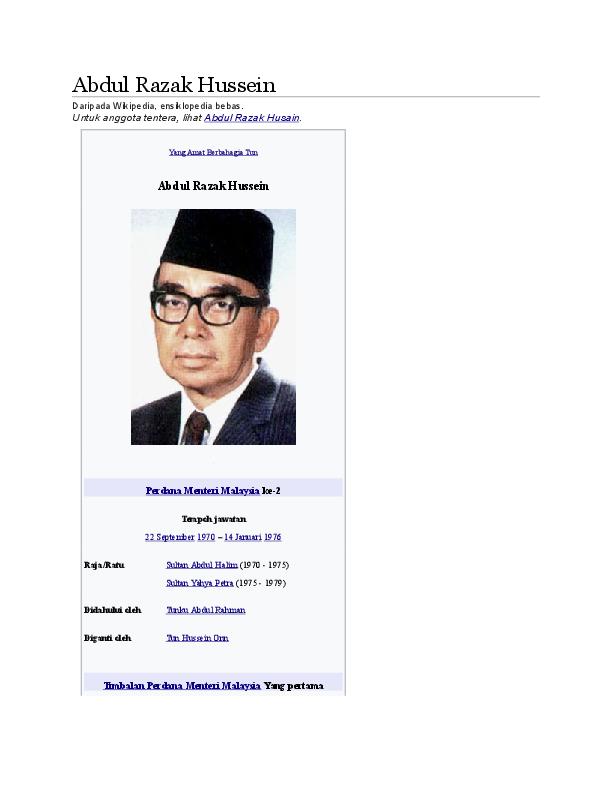 Doc Abdul Razak Hussein Najwa Syuhada Academia Edu