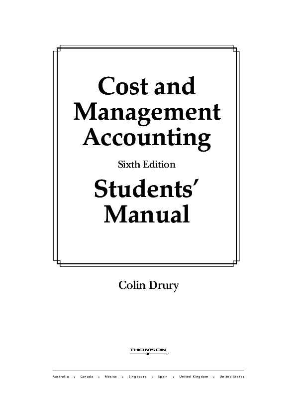 (PDF) Cost and Management Accounting Students' Manual