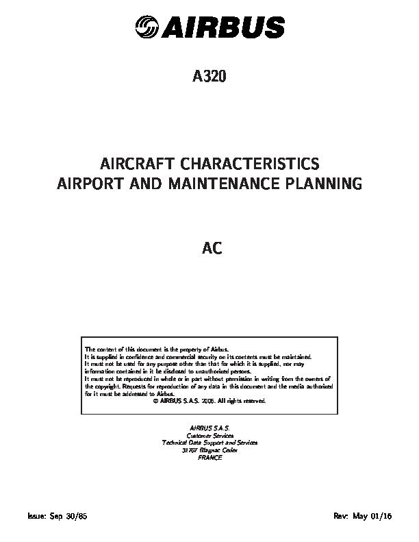 PDF) AIRBUS A320 AIRCRAFT CHARACTERISTICS AIRPORT AND MAINTENANCE