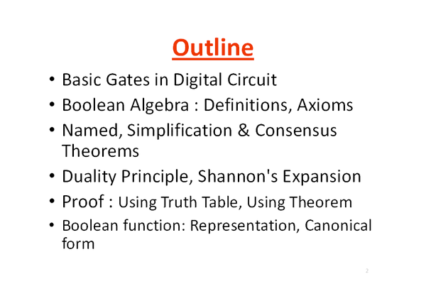 PDF) 7 Boolean Algebra, Logic Gates and Simplification Of