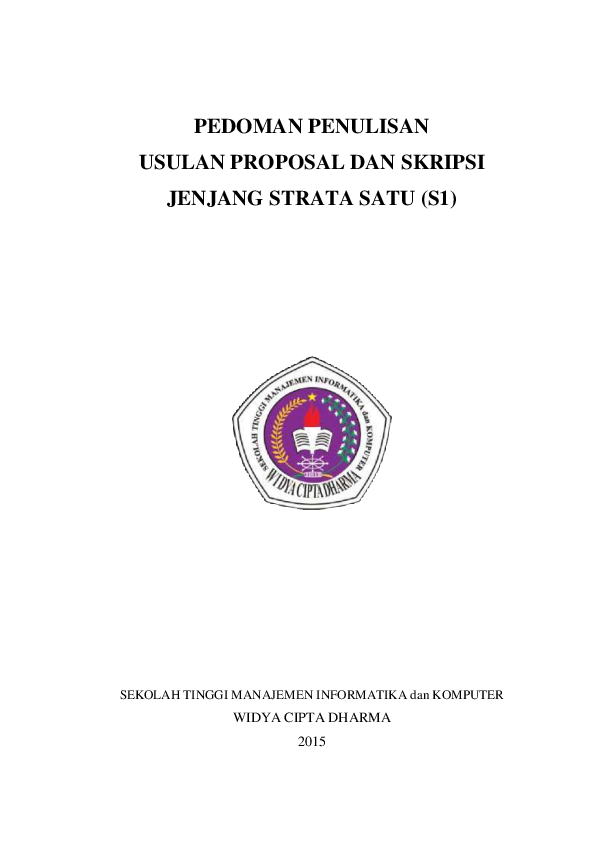 Pdf Pedoman Penulisan Usulan Proposal Dan Skripsi Jenjang Strata Satu S1 Harry Brawijaya Academia Edu