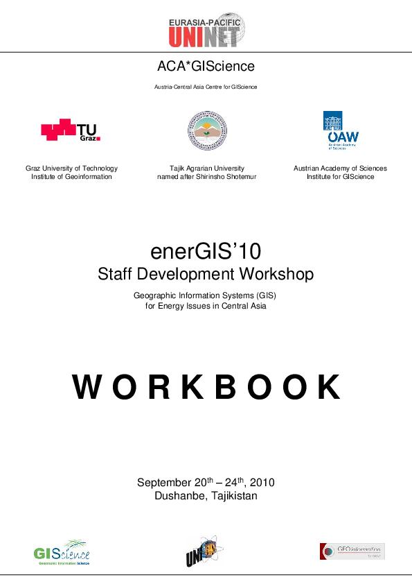 PDF) Workbook enerGIS'10 - Staff Development Workshop