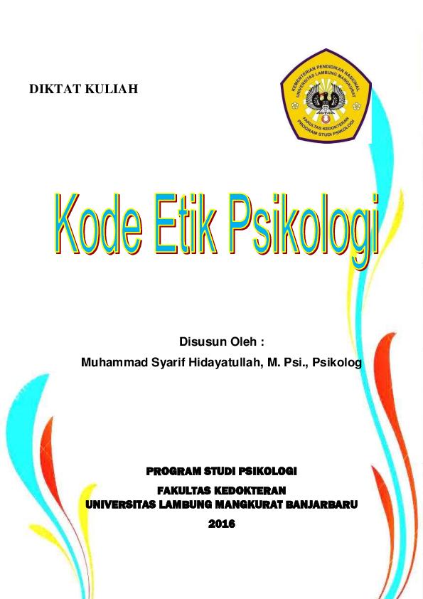 PDF) DIKTAT PERKULIAHAN Kode Etik.pdf | M. S. Hidayatullah ...