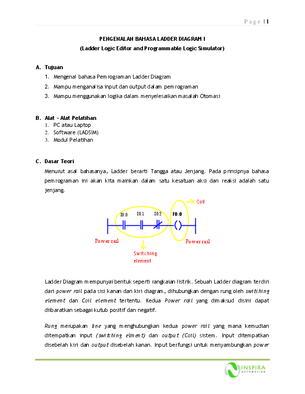 Pdf Pengenalan Bahasa Ladder Diagram I Ladder Logic Editor And Programmable Logic Simulator Marcos Sabino Academia Edu