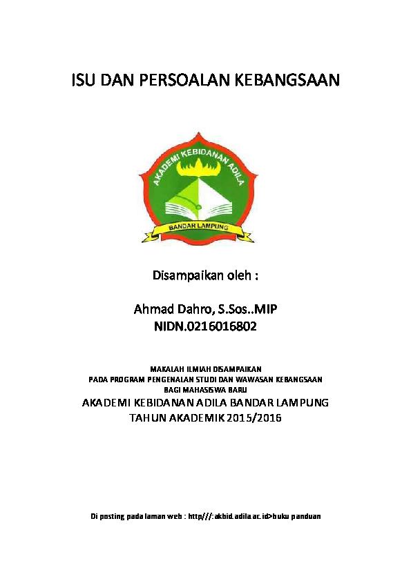 Pdf Makalah Wawasan Kebangsaan Faisal Arief Academia Edu