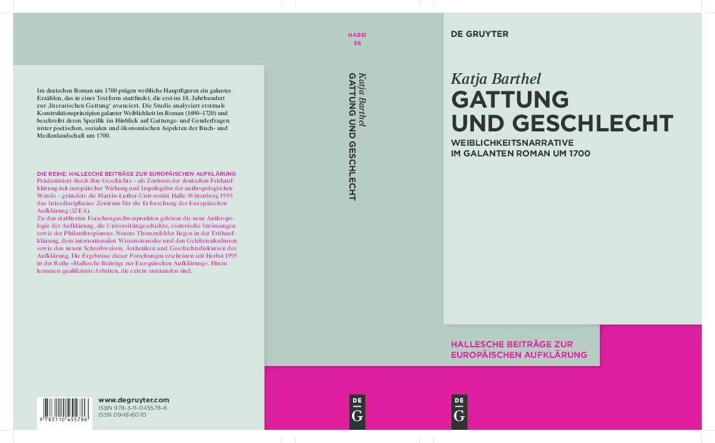 Pdf Katja Barthel Gattung Und Geschlecht