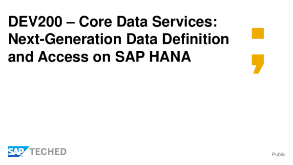 PDF) DEV200 – Core Data Services: Next-Generation Data