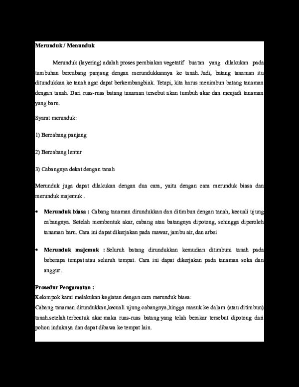Doc Merunduk Menunduk Dwi Achmad Herlambang Academia Edu