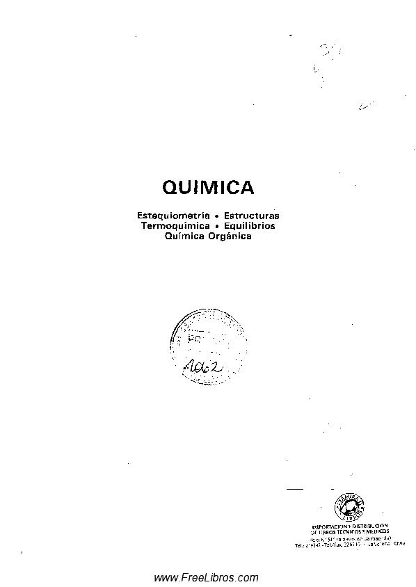 Pdf Quimica Estequiometria Estructuras Termoquimica