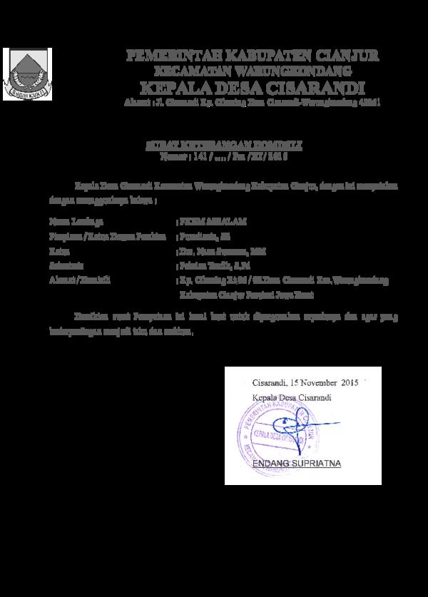 Doc Sk Domisili Yay Pkbm Assalam Academiaedu