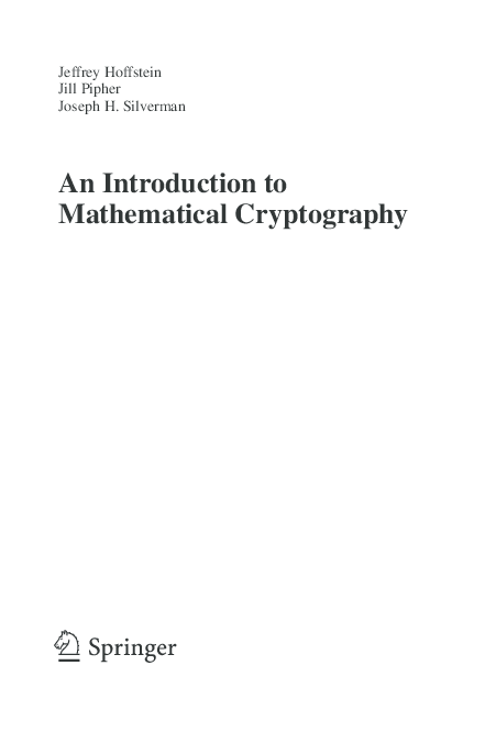 PDF) An introduction to cryptography | Kevin Lim - Academia edu