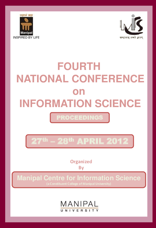 PDF) FOURTH NATIONAL CONFERENCE on INFORMATION SCIENCE | Pranali