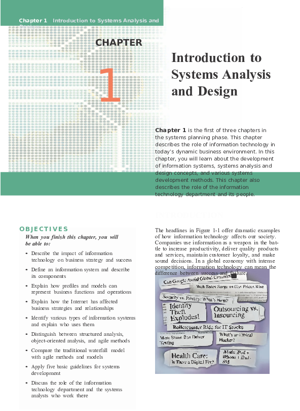 Doc Chapter 1 Introduction To Systems Analysis And Design Letia Fransiska Academia Edu