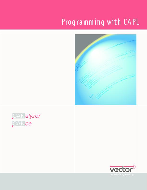 PDF) Programming with CAPL CANalyzer CANoe | chandra bhushan