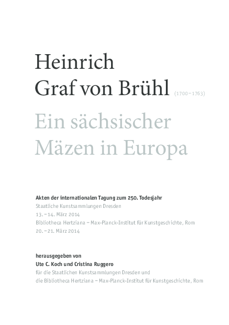 Pdf Diplomatic Correspondence Between Counts Brühl And