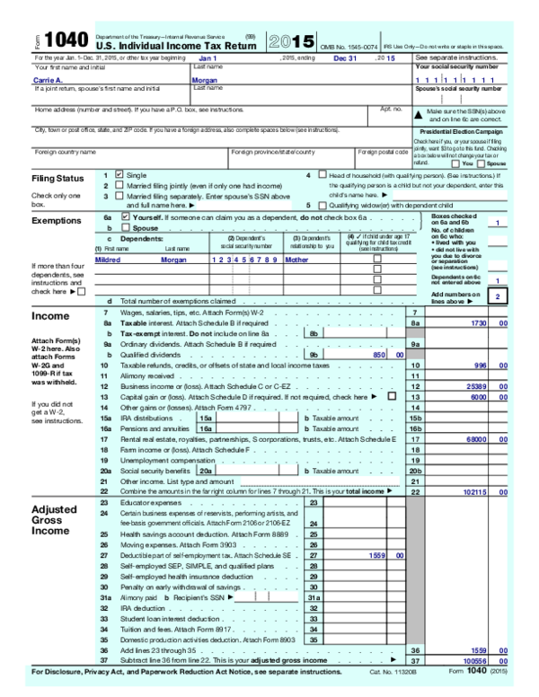 form 1040 instructions 2015  PDF) 15 Form 15 | SNEHA SNEHA - Academia.edu