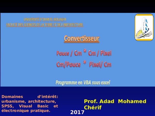 Ppt Convertisseur Pouce En Cm Et Cm En Pixelpptx Adad