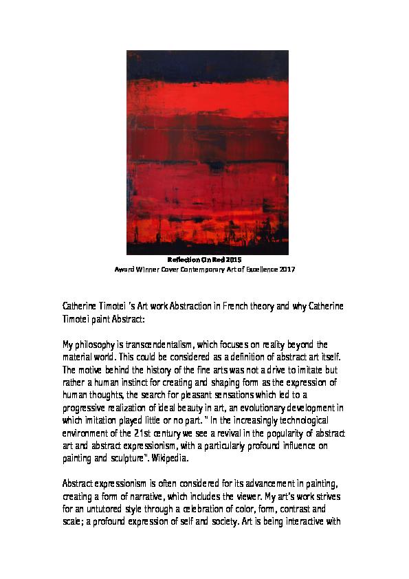 PDF) Abstract expressionism | Catherine Timotei - Academia edu