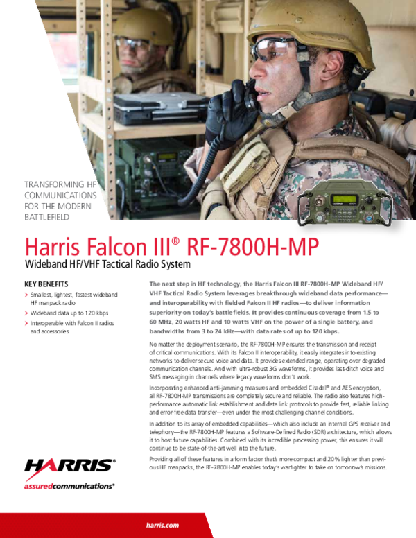PDF) TRANSFORMING HF COMMUNICATIONS FOR THE MODERN