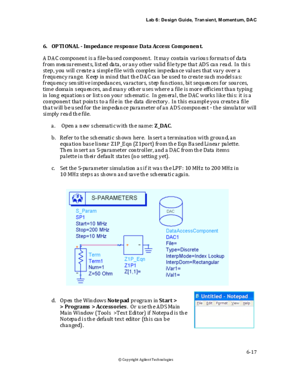 PDF) Lab 6: Design Guide, Transient, Momentum, DAC 6‐17 6