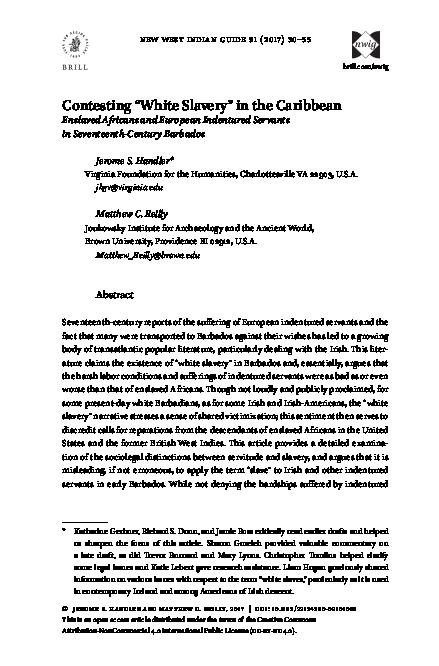 "(PDF) Contesting "" White Slavery "" in the Caribbean ..."