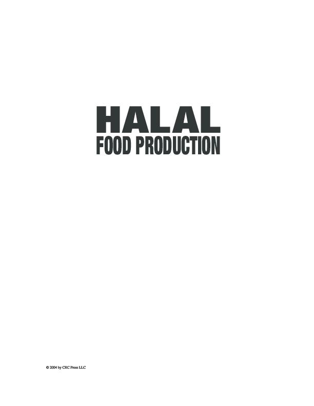 PDF) Halal food production pdf | Abdul Rahim - Academia edu