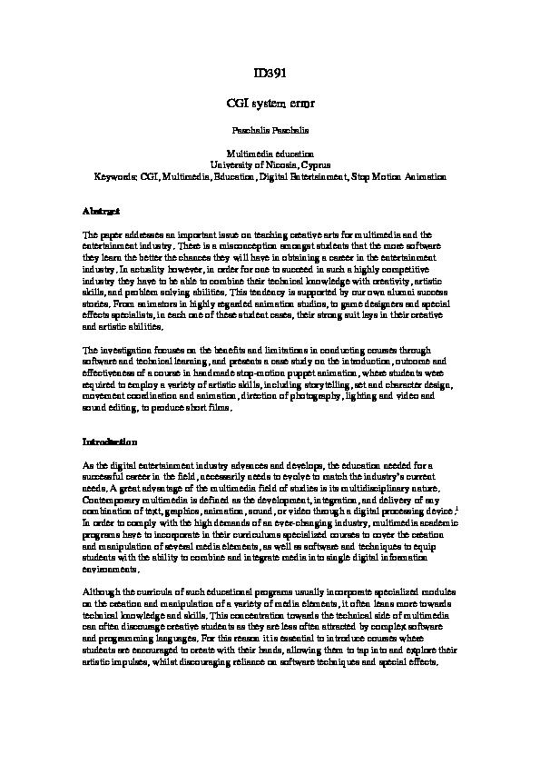 CGI system error | paschalis paschalis - Academia edu