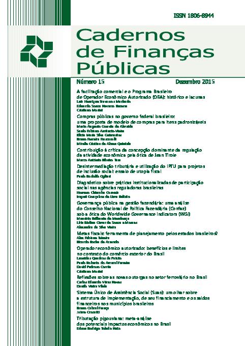 b57d176d4 PDF) Reflexões sobre as novas outorgas no setor ferroviário no ...