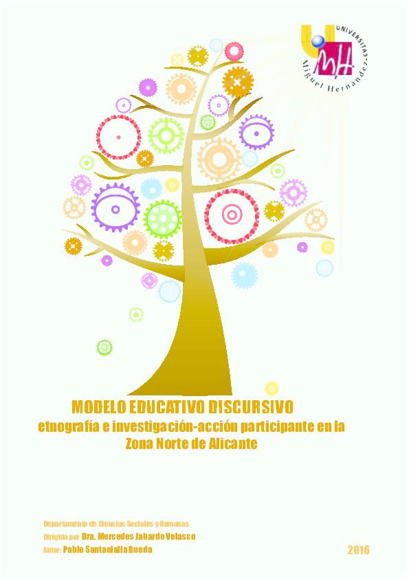 Modelo educativo discursivo  etnografía e Investigación-acción ... a090bf528718