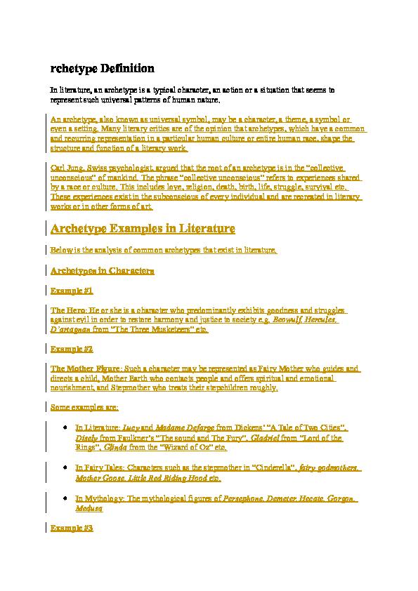 DOC) rchetype Definition   amanda lusi - Academia edu