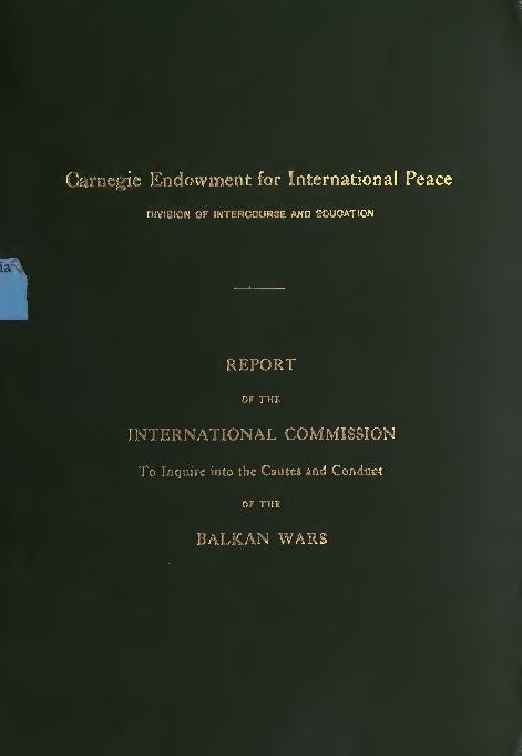PDF) Carnegie-Report-on-the-Balkan-Wars.pdf | Burak Kolot ...