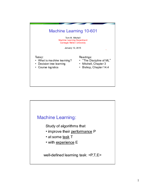 PDF) Machine Learning 10-601   DHRUVRAJ SINGH RAWAT