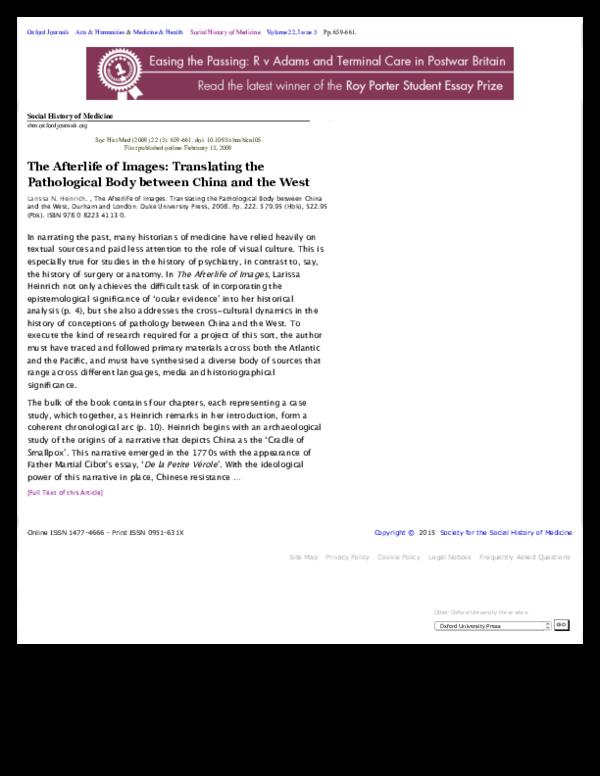 PDF) 3  Social History of Medicine | Ari Larissa Heinrich