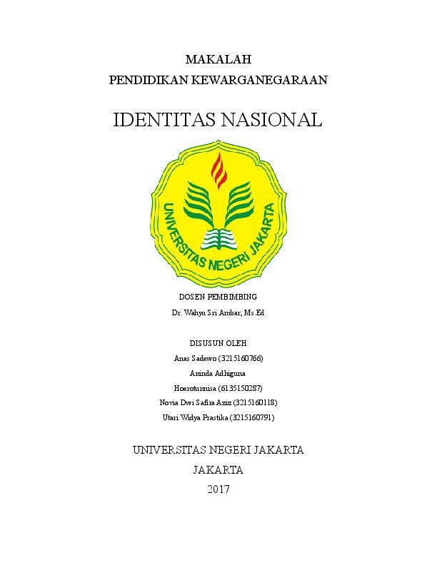 Doc Makalah Identitas Nasional Anas Sadewo Academia Edu