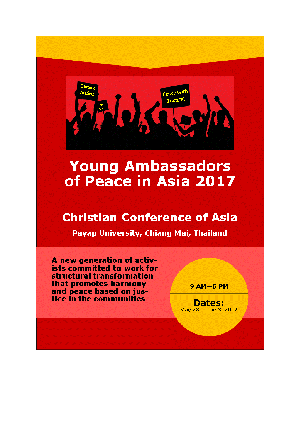 PDF) Young Ambassadors for Peace in Asia v6b | Rey Ty 鄭文華