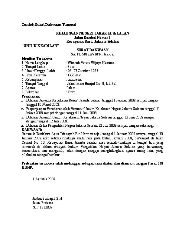 Doc Contoh Surat Dakwaan Tentang Korupsi Romi Saputra