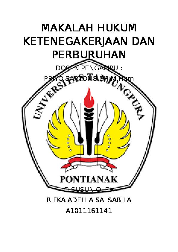 Doc Makalah Hukum Ketenegakerjaan Dan Perburuhan Radiatul Adawiyah Academia Edu