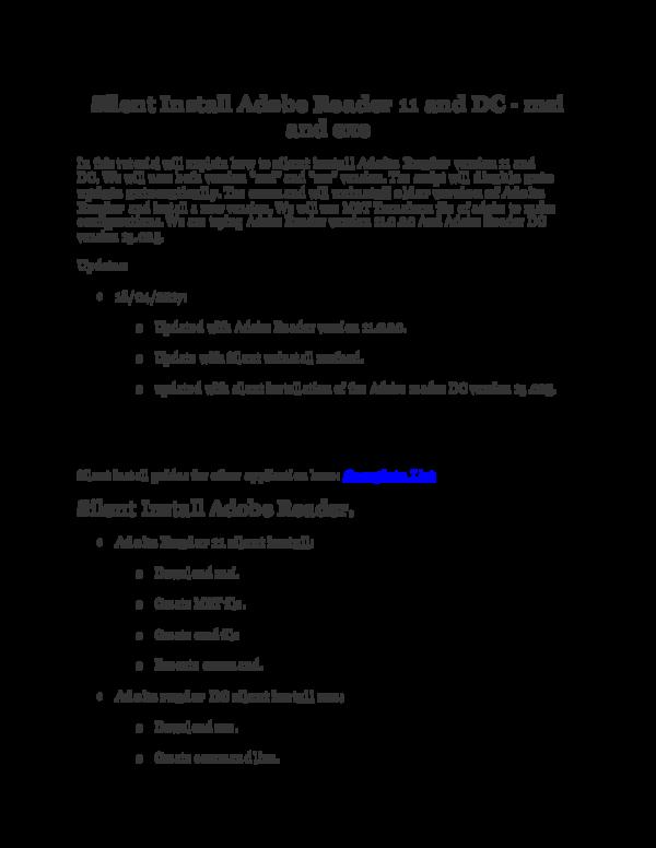 DOC) Adobe Reader Silent Install | iT Solutions - Academia edu