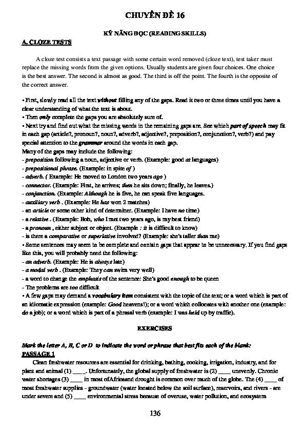 PDF) CHUYÊN ĐỀ 16 KỸ NĂNG ĐỌC (READING SKILLS   Tan Phu