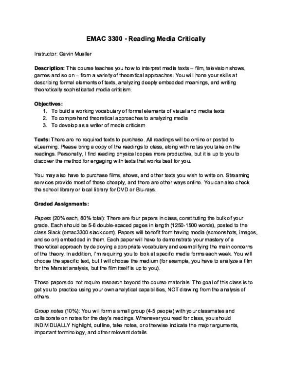 Pdf Emac 3300 Reading Media Critically Gavin Mueller Academia Edu