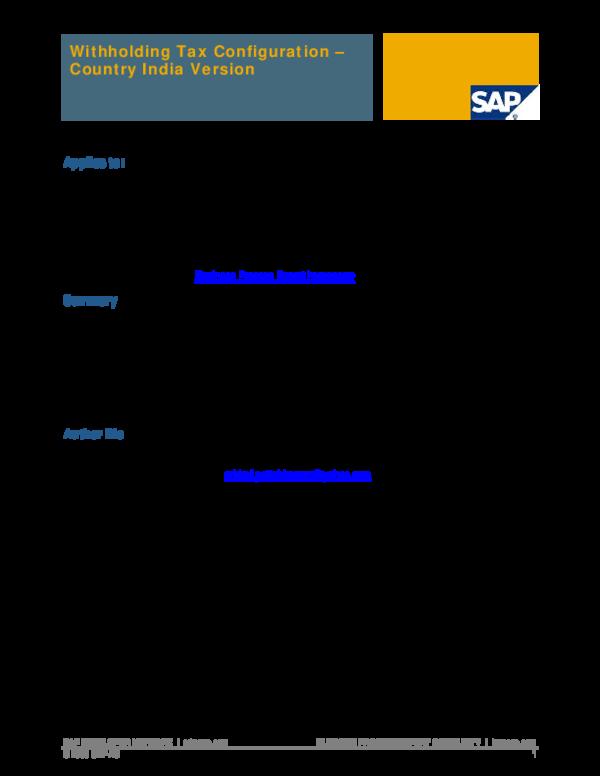 Sap Vendor Invoice Report