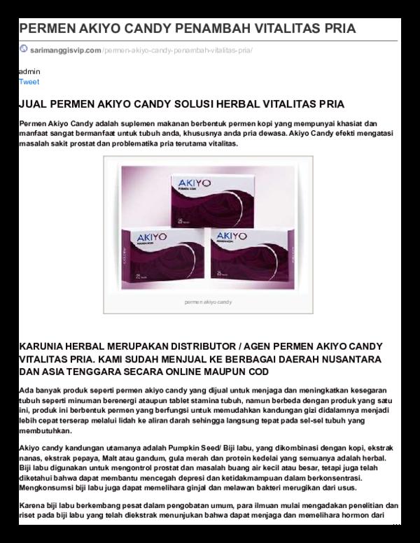 (PDF) PERMEN AKIYO CANDY 081232209077   DEB HERBAL